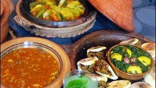 Idée de menu de saison Marocain: Chorba, tajine, batbout farci