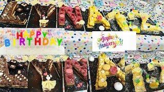 Number cake ou letter pour gâteau d'anniversaire