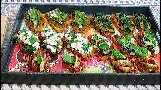 Recette de Bruschettas pour un apéritif ou dîner simple et varié!