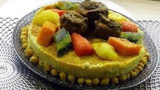 Recette de couscous facile à la viande et légumes