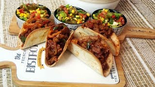 Repas Tex mex facile: Tacos mexicains et salade Mexicaine