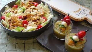 Salade César au poulet grillé, recette rafraichissante d'été facile