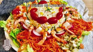 Salade composée d'été diététique rapide et facile
