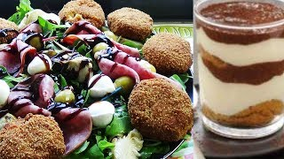 Salade italienne et tiramisu express