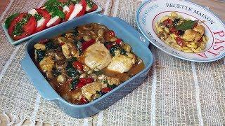 Sauté de poulet aux légumes à l'italienne, un plat complet
