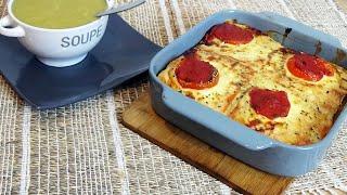 Soupe courgette kiri et Croque