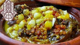 Tajine d'agneau aux petits oignons et raisins sec