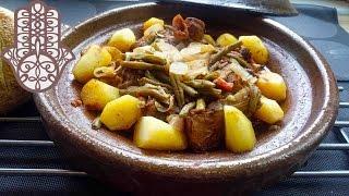 Tajine d'haricots verts et pommes de terre