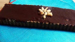 Tarte façon Snickers (caramel, cacahuètes, chocolat)