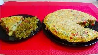 Tortilla de pommes de terre et poivrons